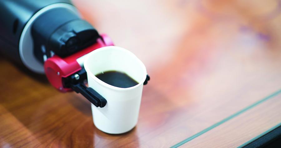 Baxter serving coffee